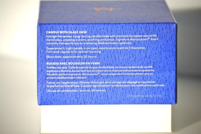 Moroccanoil Candle box info