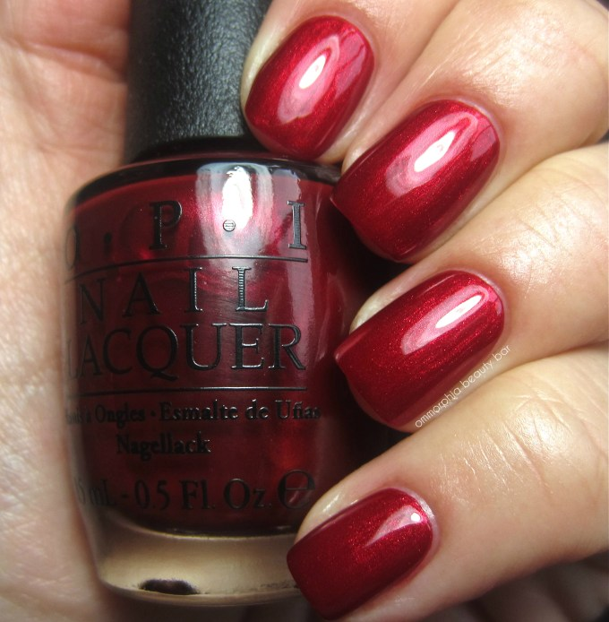 OPI In My Santa Suit swatch 2