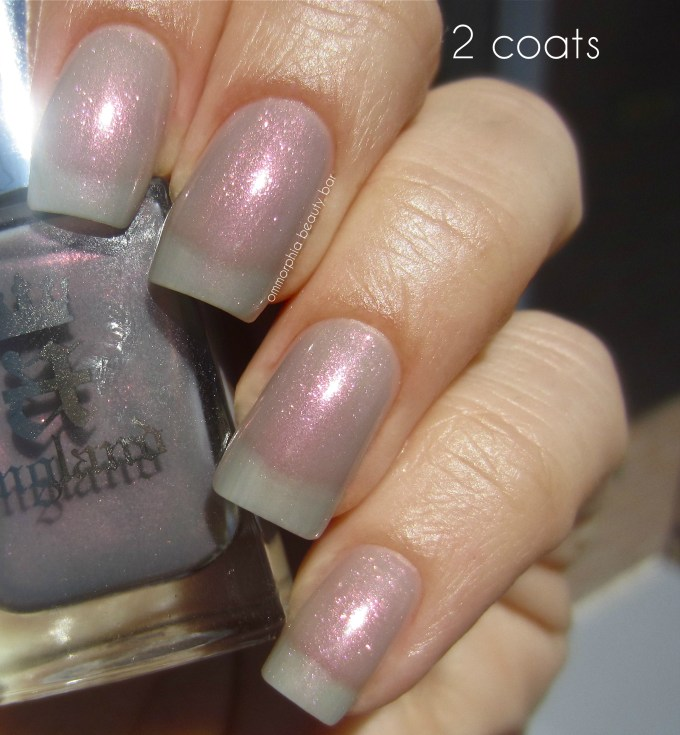 a-england Hurt No Living Thing 2 coats swatch sunlight