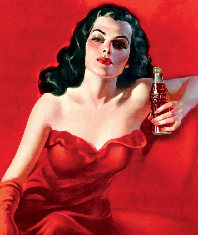 Coca Cola lady in red ad