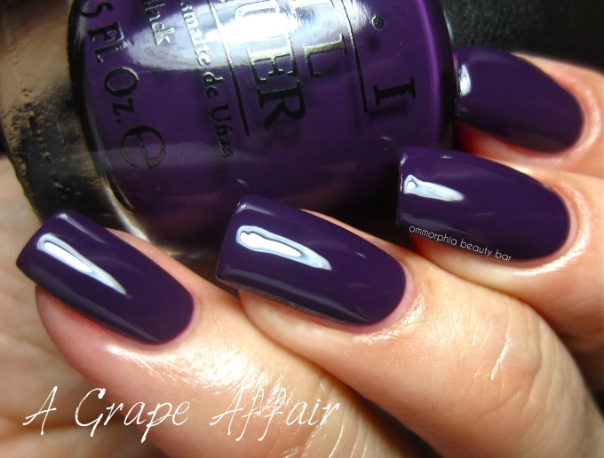 OPI A Grape Affair swatch