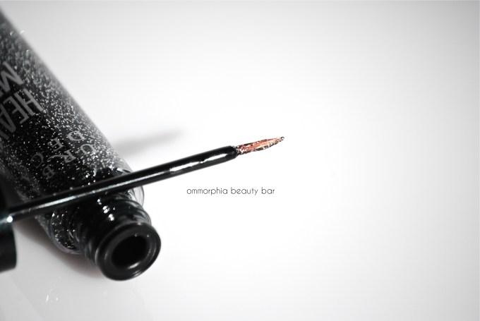 UD Gunmetal Heavy Metal Glitter Eyeliner brush 2