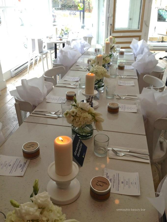 Garnier event 4 tables