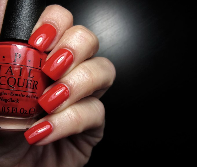OPI Race Red swatch