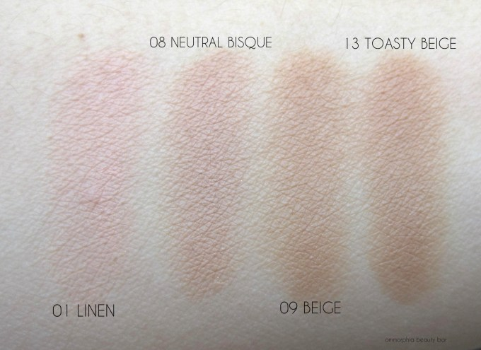 EA Flawless Finish foundation swatches 4