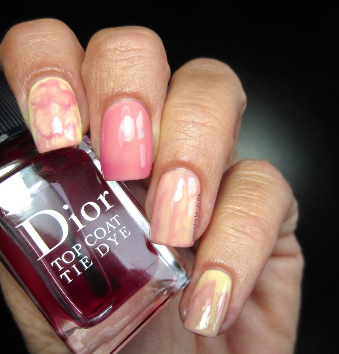Dior Sunwashed & Tie Dye Top Coat swatches
