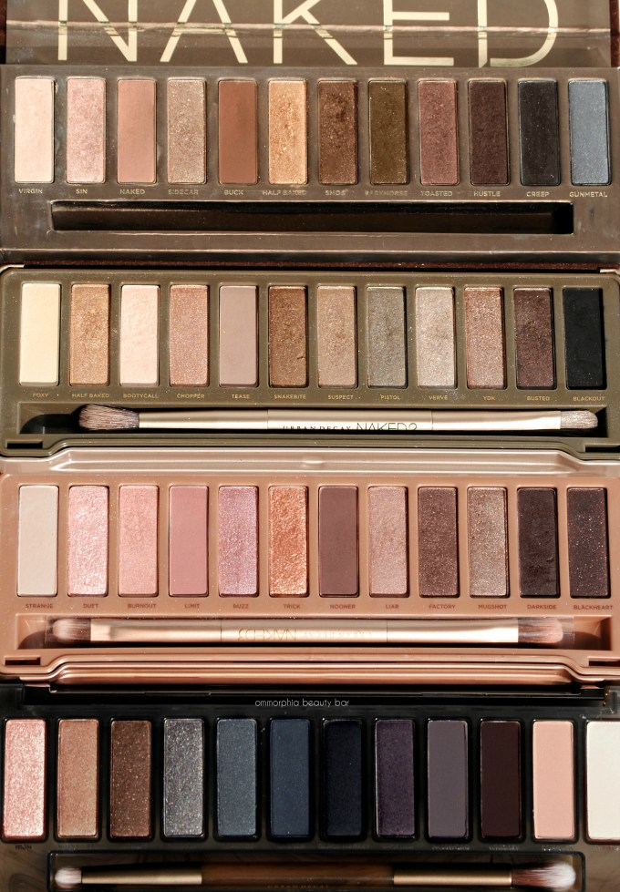 UD Naked Smoky with comparison palettes 3