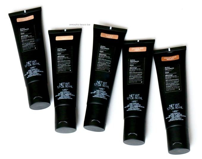 NARS Velvet Matte Skin Tint labels