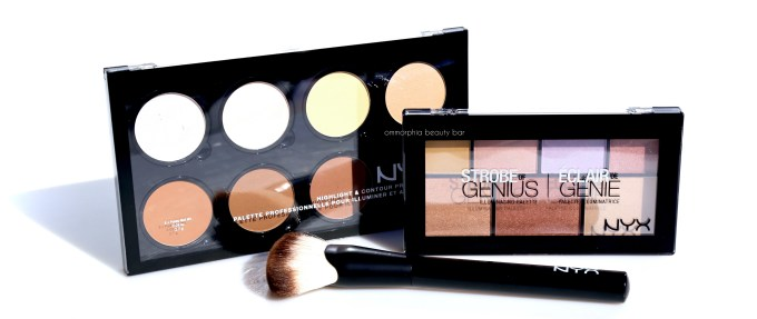 NYX Highlight & Contour palettes with brush closed