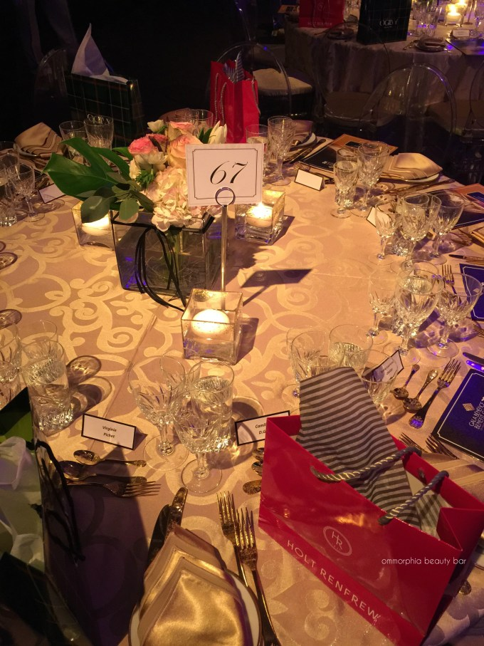 Grands Ballets Gala table decor