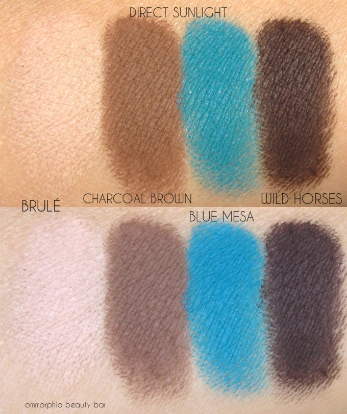 MAC Wild Horses palette swatches