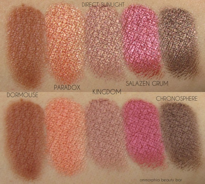 UD Alice Through the Looking Glass row 3 swatches