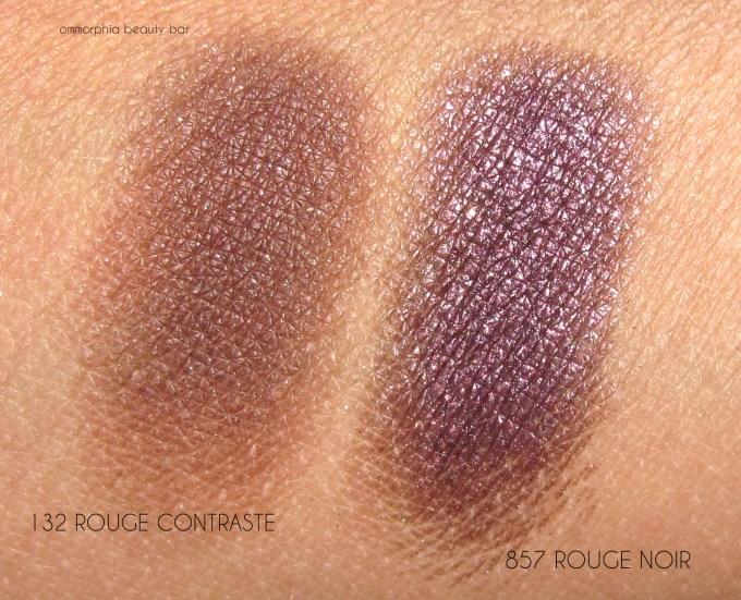 CHANEL Le Rouge illusion d'ombre comparison swatches
