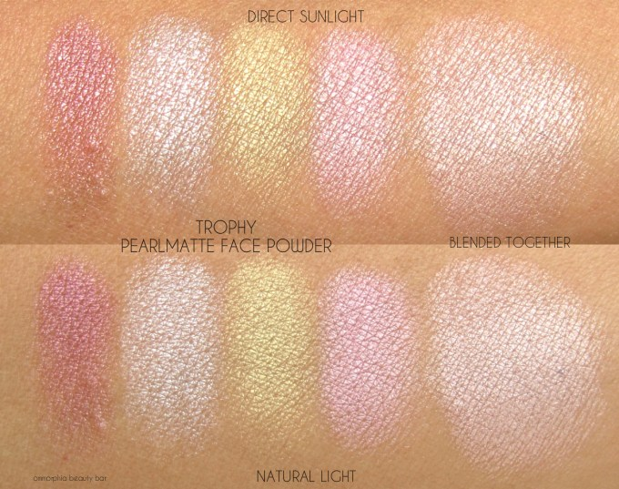 MAC Trophy Pearlmatte Face Powder swatches