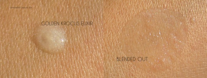 Korres Golden Krocus Elixir swatches