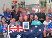 DC OM:NI guys celebrate their Australia Day award