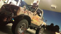 One of several art cars, the official Mocktoberfest Zombie Apocalypse Vehicle.