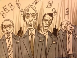 Original cartoon by TJ Walkup