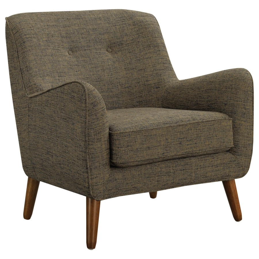 Mid Century Modern Accent Chair Accent Seating Mid Century Modern Chair With Button Tufting