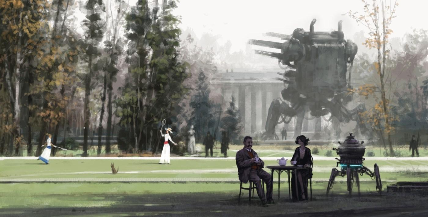 Afternoon Tea Digital Painting (2015)