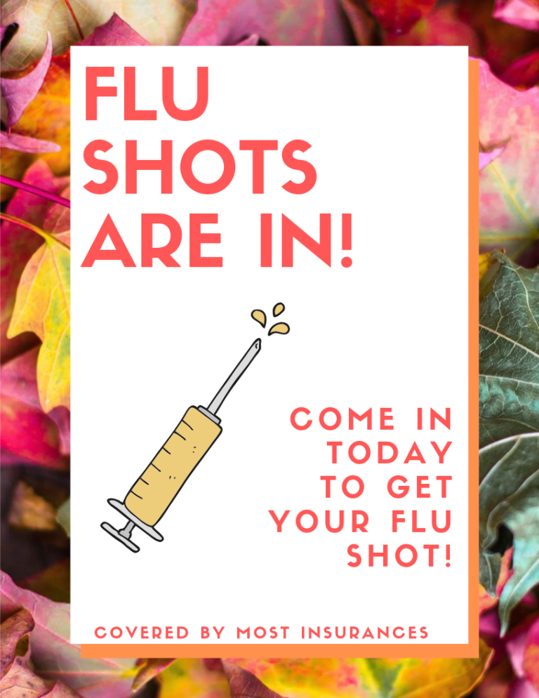 Flu shot flyer