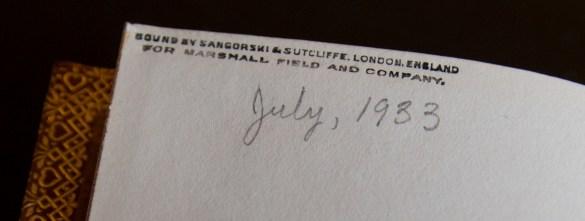 Shakspeare's sonnets sangorski and sutcliffe 1933