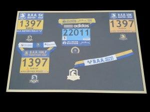 Boston Marathon, race series, medal, BAA Distance Medley 2012 Medal Display Frame