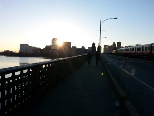 boston, sunrise, early morning runner