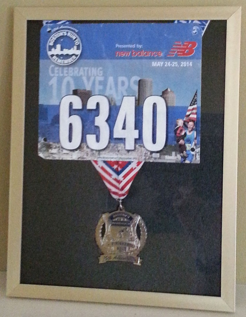 Bostons run to remember 2014 finishers medal