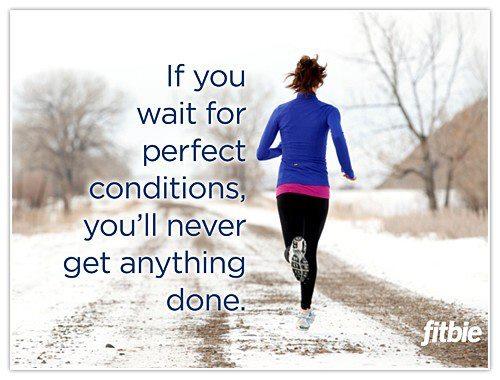 running, winter, training