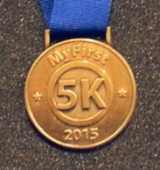 2016 My First 5K Medal