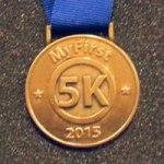 1st 5k medal, First 5k medal