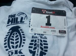 Running bib, number 1