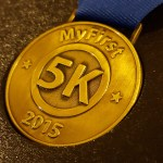 My First 5K Medal 2015, finishers medal, finisher's medal