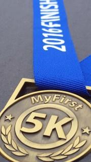#first5k, first 5k, 5k medal
