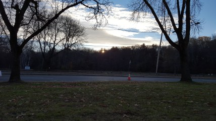 Sunrise at Stone Zoo, early morning runner