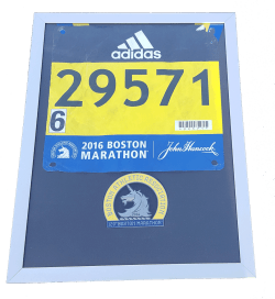 boston marathon finisher's medal display frame