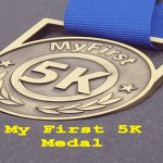 Finishers medal, 5k runner