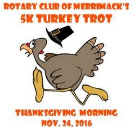 Merrimack turkey trot 5k race, finishers medal