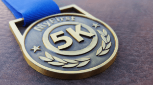 My First 5K medal 2017, runners medal