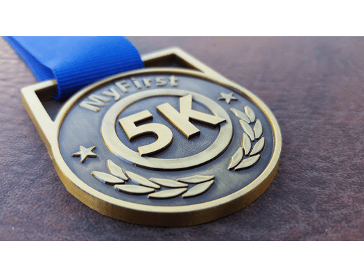 My First 5K medal, runners medal