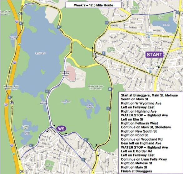 Sunday Long Run, MRC, Spot Pond