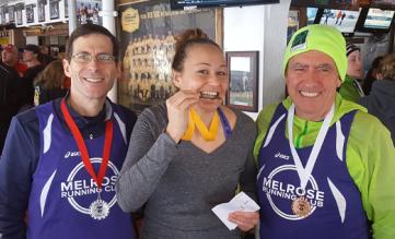 April Fool's 4 miler, Melrose runners