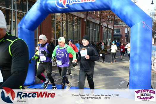 Cambridge Winter Classic 5K 2017 Finishj