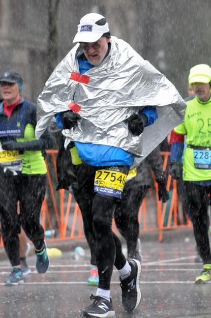 Boston Marathon 2018 in the Rain