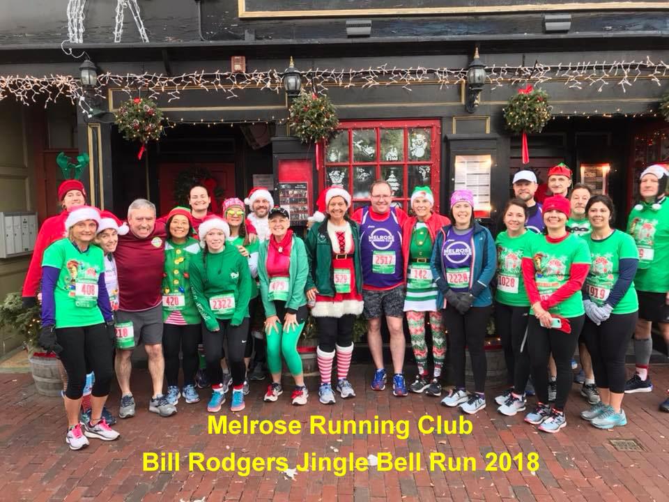 Melrose Running Club, Bill Rodgers Jingle Bell Run 2018, Somerville 5K