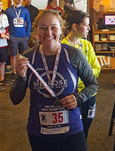 Katherine Kulig, On The Run Half Marathon 2019