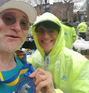 Boston Marathon finishers medal