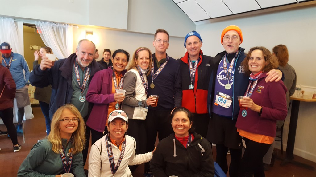 Melrose Running Club at the 2019 Harborside Half After Party