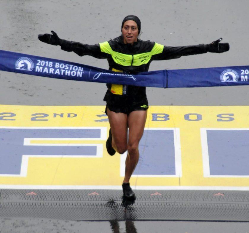 Des Linden 2018 Boston Marathon Winner
